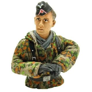 1/16 figurka německého velitele tanku, letní kamufláž z 2 sv. války, ručně malovaný