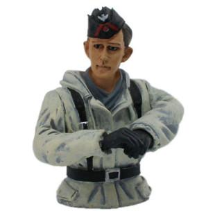 1/16 figurka německého velitele tanku, zimní kamufláž z 2 sv. války, ručně malovaný