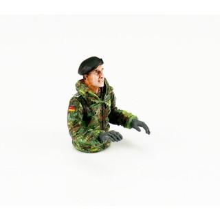 1/16 půl figurka německého velitele tanku Leoparda, ručně malovaný