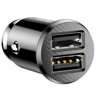 Baseus grain duální inteligentí USB nabíječ do vozidla 5V 3.1A (black)