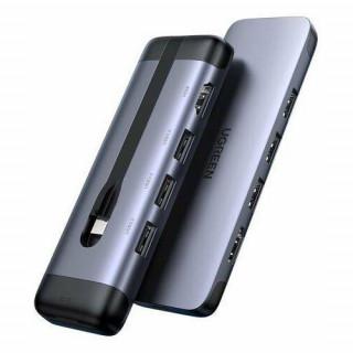 5in1 UGREEN CM287 Hub USB-C to HDMI, 2x USB 3.0, USB-C PD 3.0, RJ45 adapter