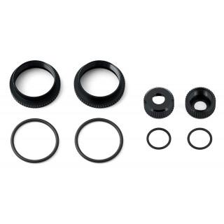 16mm mm nastavitelný krouřek tlumiče a příslušenství, černé