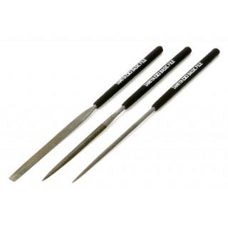 Tamiya Základní sada pilníků (hladký dvojitý řez) 3ks
