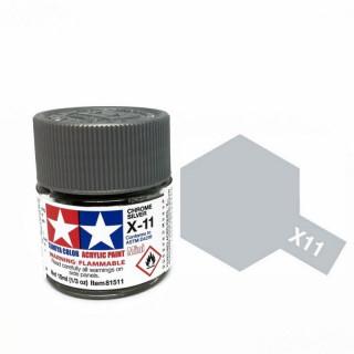 Tamiya Color X-11 Chrome Silver gloss 10ml