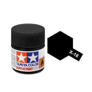 Tamiya Color X-18 Semi-Gloss Black 10ml