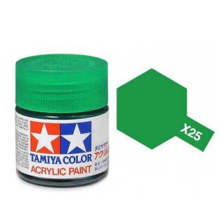 Tamiya Color X-25 Clear Green gloss 10ml