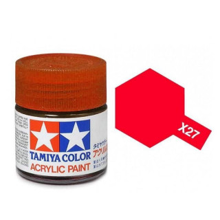 Tamiya Color X-27 Clear Red gloss 10ml