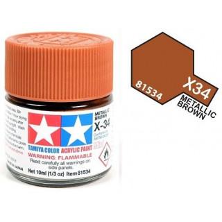Tamiya Color X-34 Metallic Brown gloss 10ml