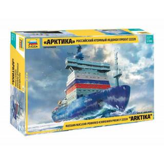 """Model Kit loď 9044 - """"Arktika"""" Russian Nuclear Icebreaker (1:350)"""