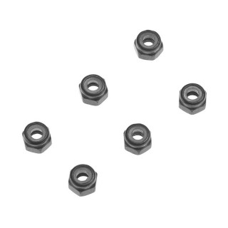 Nylon Insert Steel Lock Nuts 3mm (6)