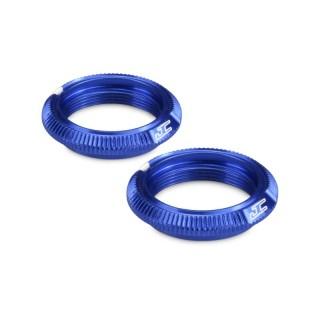 Alu kroužky tlumičů 12mm V2 modré (2 ks.)
