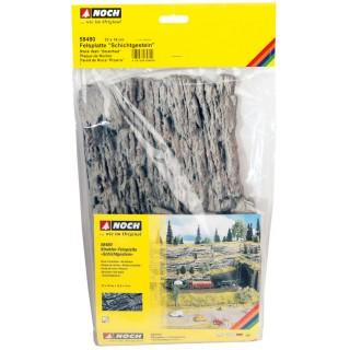 Skalní stěna - vrstevnatá hornina (33x19 cm) NO58480